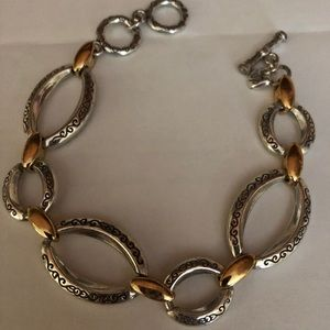 Brighton silver and gold link bracelet.
